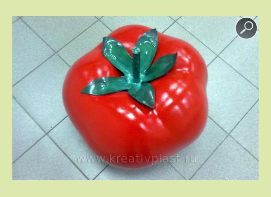 Красный помидор из пенопласта